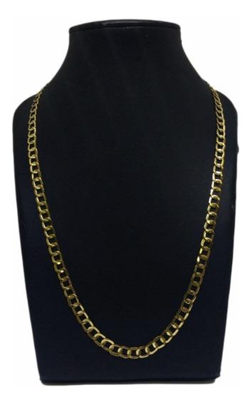 Cordão Masculino Ouro 18k 750 Laminado Escama De Peixe