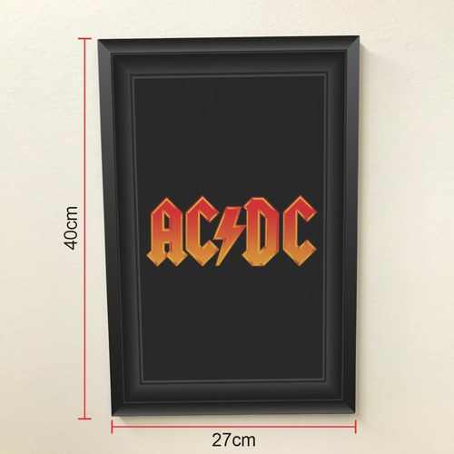 Quadro 40x27 Rock N Roll Ac/dc Box Set