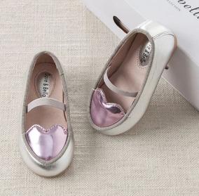 Zapatos Niña Plateados Cuero