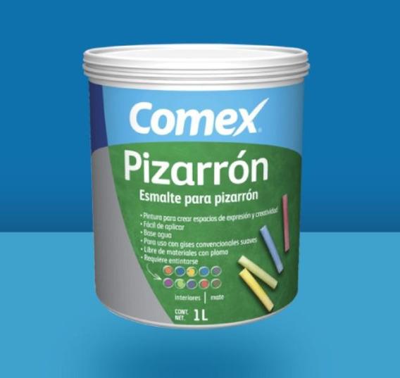 Pintura Para Pizarrón Gis Negro 1lt Esmalte Base Agua