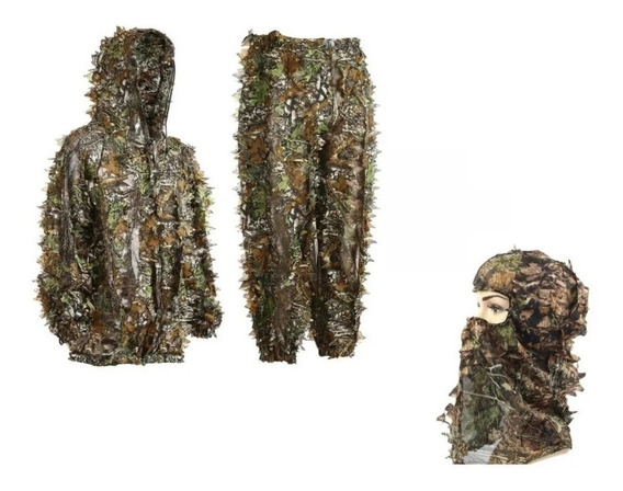 Roupa Ghillie Camuflada Airsoft Paintball 3d Mato + Baclava