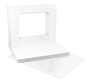 11x 14pulgadas Color Blanco Esteras De Respaldo Juego Com