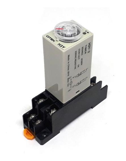 H3y-2 60s 220v Rele De Tempo Temporizador Timer C/ Base