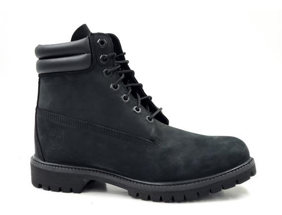Timberland Premium 6 In Waterproof Black Nubuk Negro Hombre