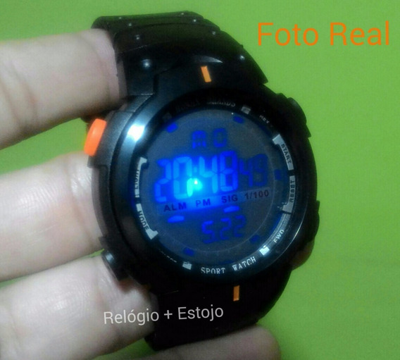 Relógio Pulso Digital Led Multicor Masculino Feminino Unisex