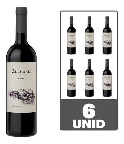 Imagen 1 de 4 de Vino Zuccardi Serie A Syrah 750ml Tinto Caja Pack X6