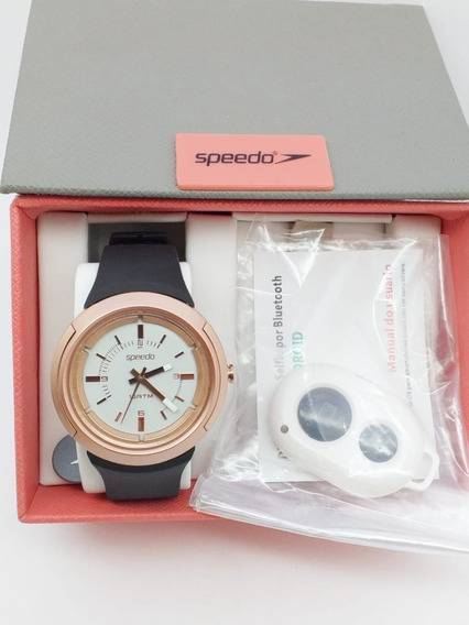 Relógio Speedo Preto Com Dourado Ponteiro 65689loevnp2
