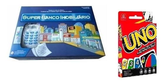 Super Banco Imobiliário Máquina De Cartão + Jogo Uno