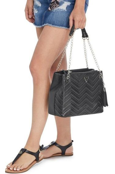 Bolsa Guess Original Negra Con Cadena Para Dama Satchel
