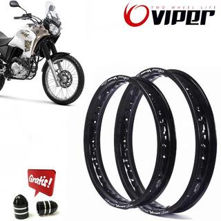 Aros Viper Aluminio Tenere 250 215x18 E 185x21 + Brinde