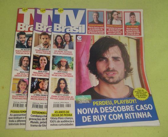 Lote De 3 Revistas Tv Brasil - Frete Grátis - Cód. 786