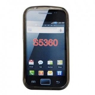 Capa De Tpu Para Samsung Galaxy Y S5360 - Preto Fumê