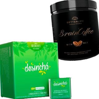 Chá Desinchá Original 60 Sachês + Braincoffee Com Mct 200g