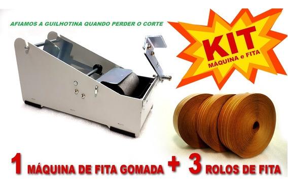 Kit 1 Aparelho Aplicador + 3 Rolos Fita Gomada Com Reforço