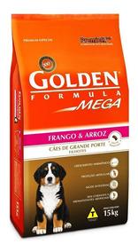 Ração Golden Mega Filhotes Raças Grandes Frango - 15 Kg