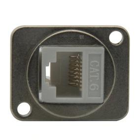 Conector Rede Rj45 Tipo D Metal Extensão Parafusar Parede