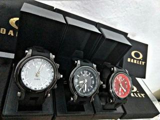 Kit-6 Relógios Oakley Holeshot Vidro Safira+caixa + Almofada