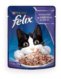 Alimento Para Gato Felix Sardina En Salsa Pouch 85 G