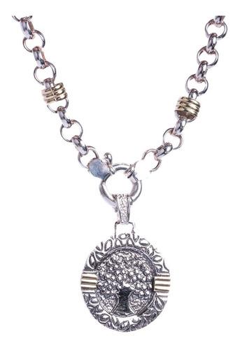 Conjunto De Cadena Rolo Con Medalla Del Arbol De La Vida