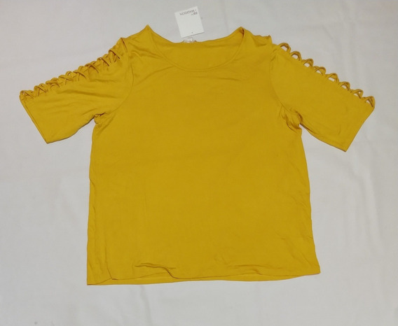 Blusa Amarilla Xxl Dama Plus