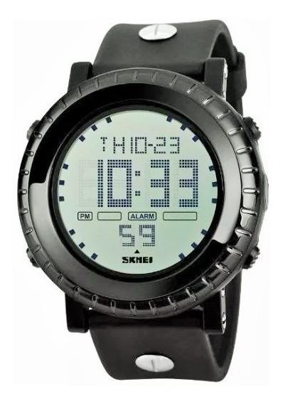 Relógio Masculino Preto Skmei Digital 1172 Envio Imediato