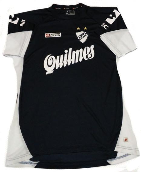Camiseta De Quilmes Lotto Azul 2010/2011 Con Numero