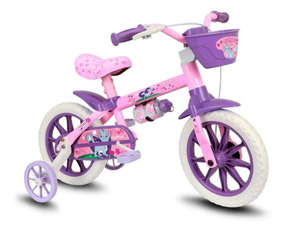 Bicicleta Infantil Nathor Aro 12 Cat Feminina Selim Em Pu