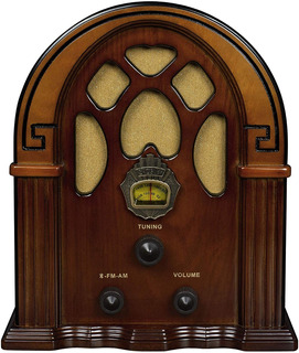 Radio Tipo Antiguo Madera Retro Am/pm Crosley Analogico