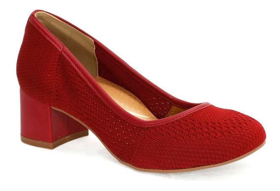 Sapato Feminino Malha Dakota Vermelho