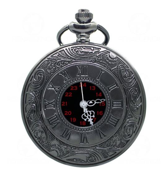 Relógio De Bolso Steampunk Corrente Antigo Original Relíquia