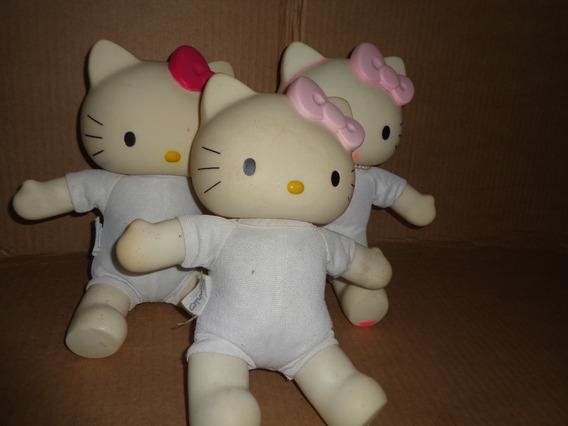 3 Bonecas Hello Kitty Sanrio Antigas Usadas Sem Roupas