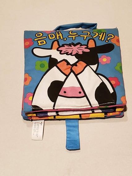 Livro Infantil Coreano De Pano
