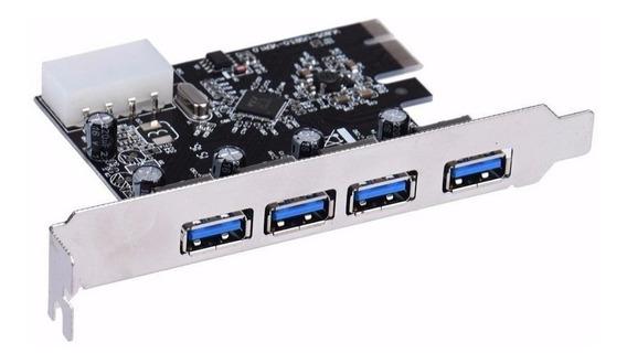 Placa Usb 3.0 Pci-e Pci Express Com 4 Portas 5gbps - Dp43