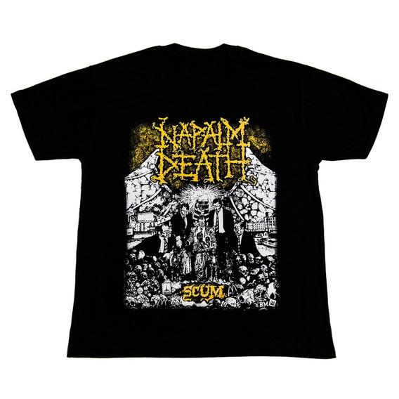 Napalm Death Remera - Scum - Premium - Envios / Shane Embury