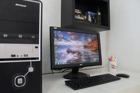 Computador Completo Com Monitor, Teclado E Mouse Sem Fio