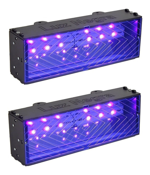 2 Refletor Luz Negra Profissional Deltrônica Lâmpada Led Uv