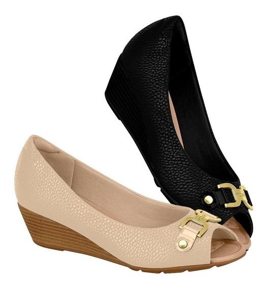 Sapato Feminino Plataforma Peep Toe Modare 7036311 Promoção