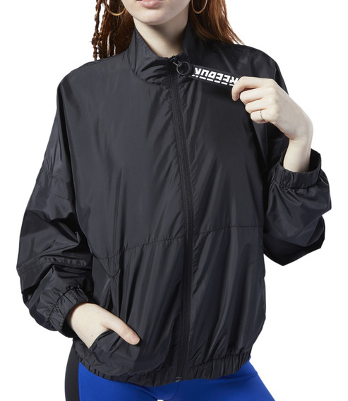 Campera Rompeviento Reebok Training Meet You There Mujer Ng