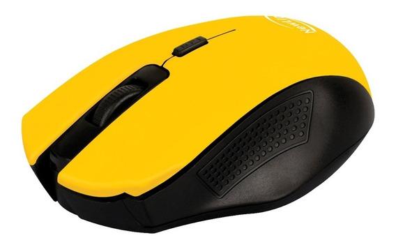 Mouse Sem Fio Citrus Amarelo Mo205 1600dpi Usb Nano Newlink