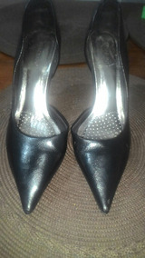 25b6eaef78 Scarpin Salto Agulha N  37 Salto 10 Cm Preto Feminino - Sapatos no ...