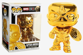 Funko Pop #377 - Captain America Chrome - Marvel Studios