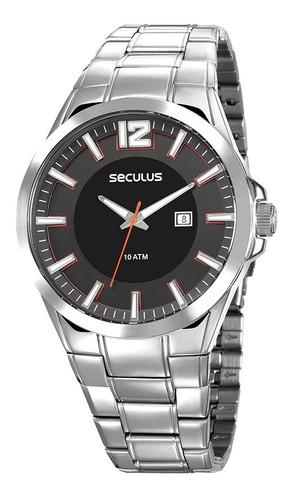 Relógio Masculino Seculus Prata Analógico + Garantia + Nf