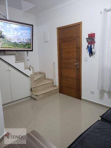 Imagem 1 de 21 de Imob01 - Sobrado 69 M² - Venda - 2 Dormitórios - Jardim Santo Antônio - Santo André/sp - So0798