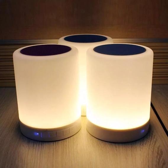 Caixa De Som Ideal Para Leitura Com Luminária E Bluetooth