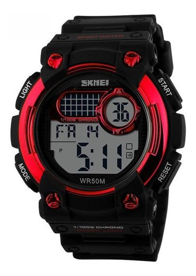 Relógio Infantil Masculino Skmei Digital 1054 Preto Vermelho