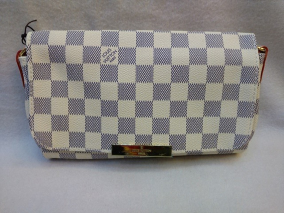Bolsa Vuitton Favorite Couro Damier Azur - Frete Gratis
