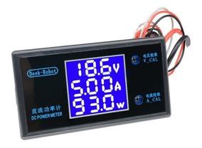 Monitor Medidor De Energia Dc Tensão Corrente E Potência