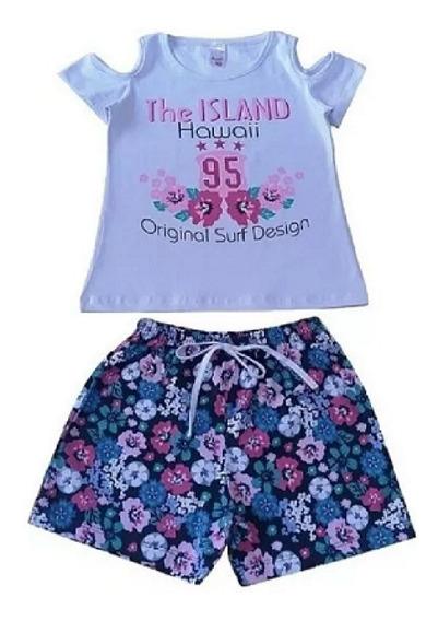 Kit Lote 5 Conjuntos Roupa Infantil Juvenil Menina Feminino