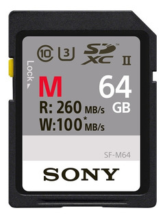 Tarjeta De Memoria Sony Sd Uhs-ii De 64gb - Sf-m64