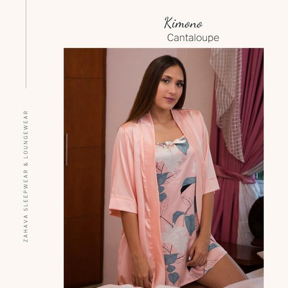Kimono Levantadora En Seda Unicolor Nude - Despedida Soltera